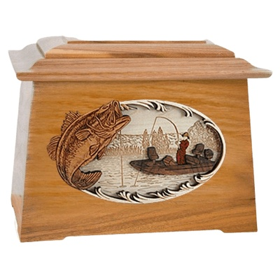 Catch of the Day Oak Aristocrat Cremation Urn