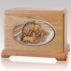 Daddys Love Oak Cremation Urn For Two