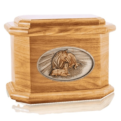 Daddys Love Oak Octagon Cremation Urn