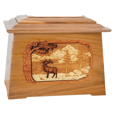 Elk Oak Aristocrat Cremation Urn