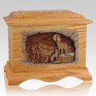 Moonlight Serenade Oak Cremation Urn