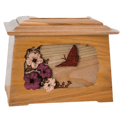 Butterfly Oak Aristocrat Cremation Urn