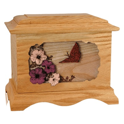 Butterfly Oak Cremation Urn