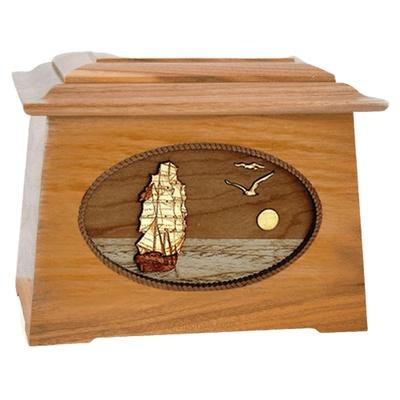 Sailing Home Oak Aristocrat Cremation Urn