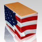 Patriotic Oak Child Cremation Urn III