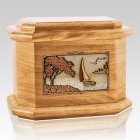 Sailboat Oak Octagon Cremation Urn