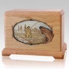 Fly Fishing Oak Hampton Cremation Urn