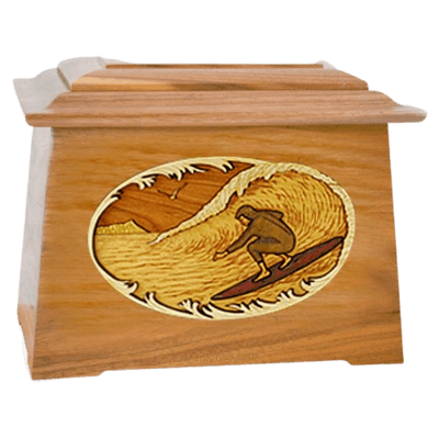 Surfer Oak Aristocrat Cremation Urn