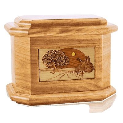 Turkey Oak Octagon Cremation Urn