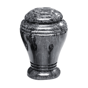 Midnight Onyx Marble Cremation Urn III