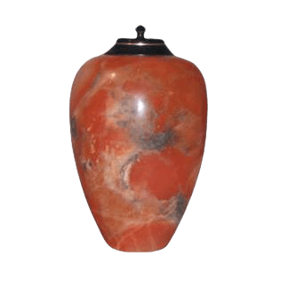 Dragon Orange Alabaster Cremation Urn