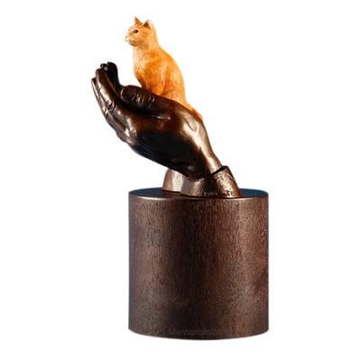 Orange Tabby Cat Cremation Urn