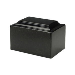 Orca Black Granite Medium Urn