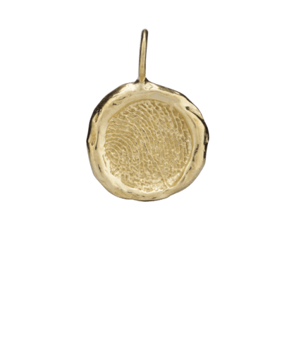 Organic Fingerprint Gold Keepsake Pendant III