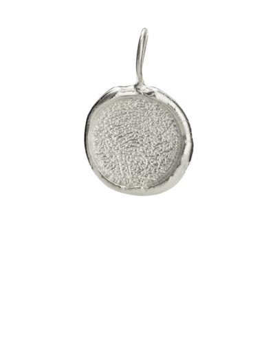 Organic Fingerprint White Gold Keepsake Pendant II