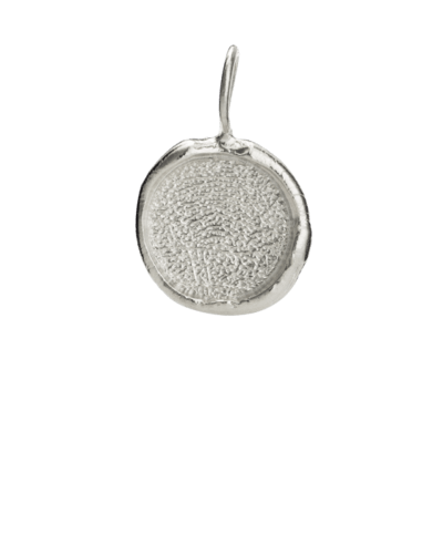 Organic Fingerprint Sterling Keepsake Pendant II