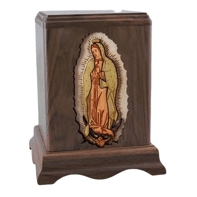 Lady of Guadalupe Walnut Companion Urn