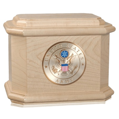 Patriot Army Maple Wood Urn