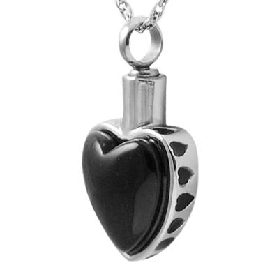 Black Heart Cremation Jewelry