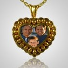 Pearl Photo Heart Cremation Keepsake II