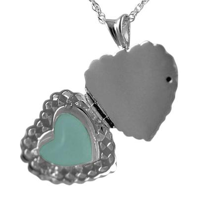 Pearl Photo Heart Cremation Jewelry III