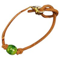 Lime Memory Bead Ash Bracelet