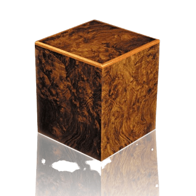 Peppered Wood Cremation Urn