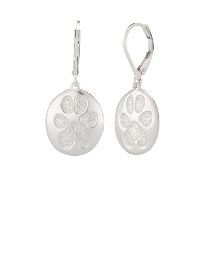 Pet Earrings Paw Print Sterling Keepsake