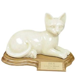Feline Laying Cat Cremation Urn