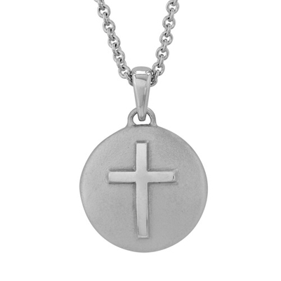 Petite Cross Sterling Cremation Pendant