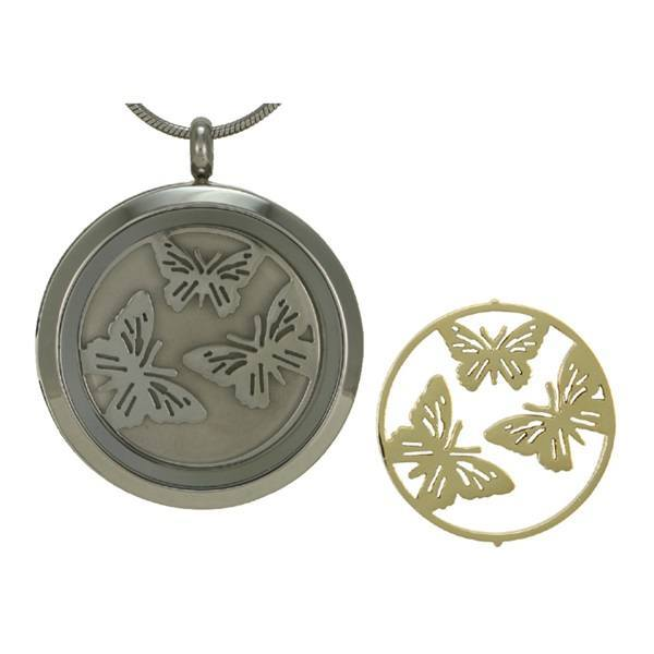 Honor Butterfly Cremation Pendant II