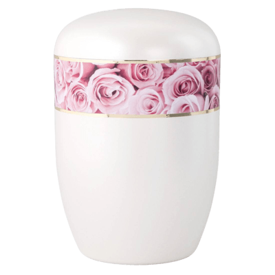 Pink Roses Biodegradable Urn