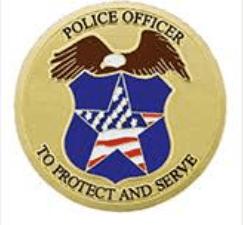 Police Officer Medallion Appliques