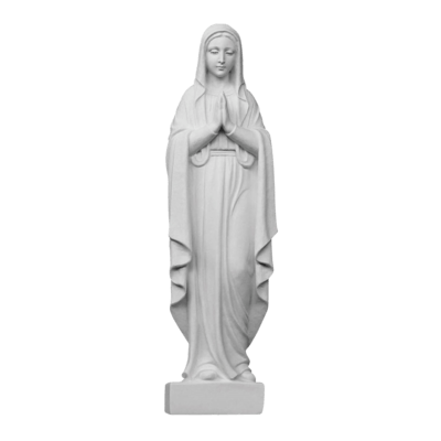Praying Madonna Medium Marble Statue
