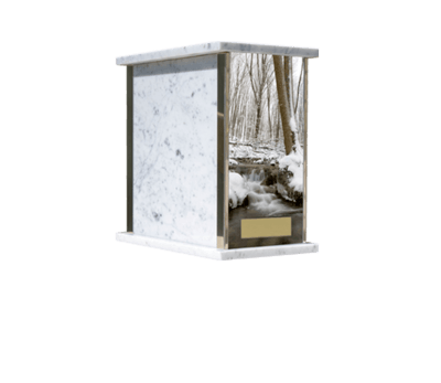 Prim Winter Forest Cremation Urn