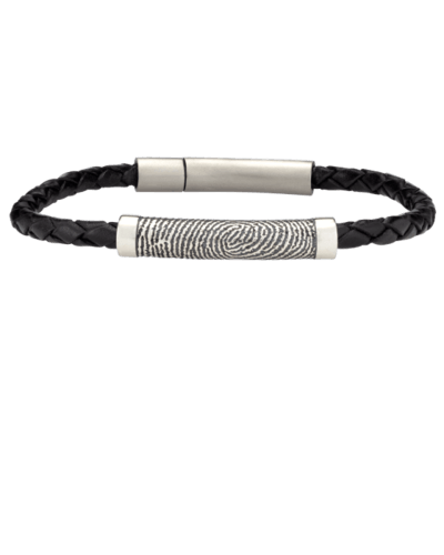 Fingerprint Rod Leather Bracelet