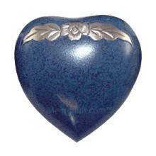 Avalon Blue Heart Keepsake Cremation Urn