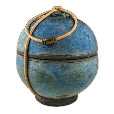 Globe Pod Raku Keepsake Urn