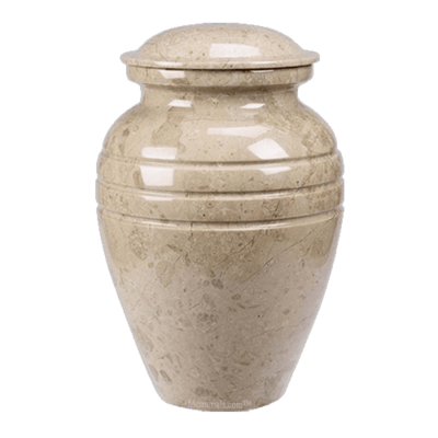 Hera Cream Marble Cremation Urns