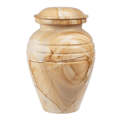 Hera Teak Marble Cremation Urns