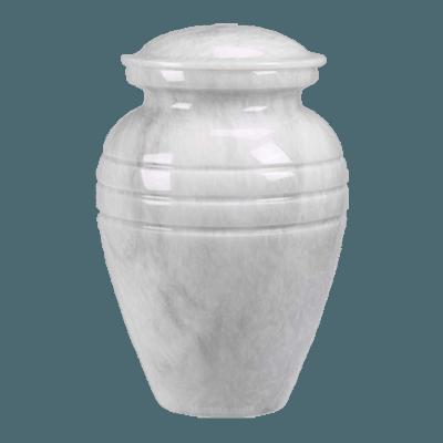 Hera White Marble Cremation Urns