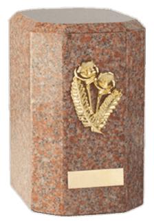 Kaiser Vermilion Cremation Urn