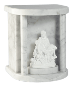 Lady Pieta Carrara Cremation Urn