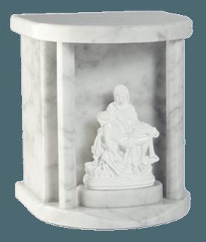Lady Pieta Carrara Cremation Urn