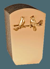 Loving Birds Bronze Cremation Urn