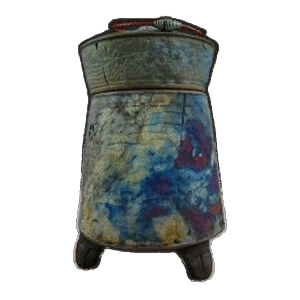 Tribal Wave Raku Urn