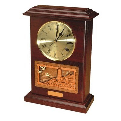Clock Lighthouse Rosewood Cremation Urn
