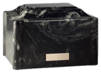 Vitalis Black Cremation Urn
