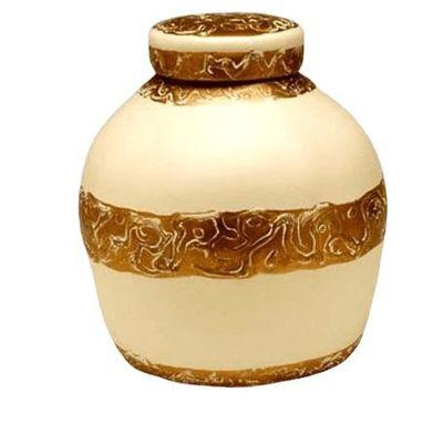 Golden Embossed Biodegradable Urn