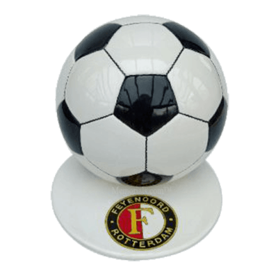 Black Logo Medium Soccerball Urn